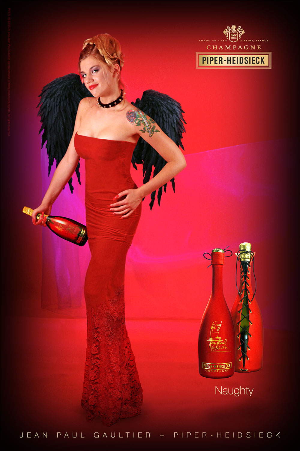 Jean Paul Gaultier Piper Heidsieck Full Page Ad