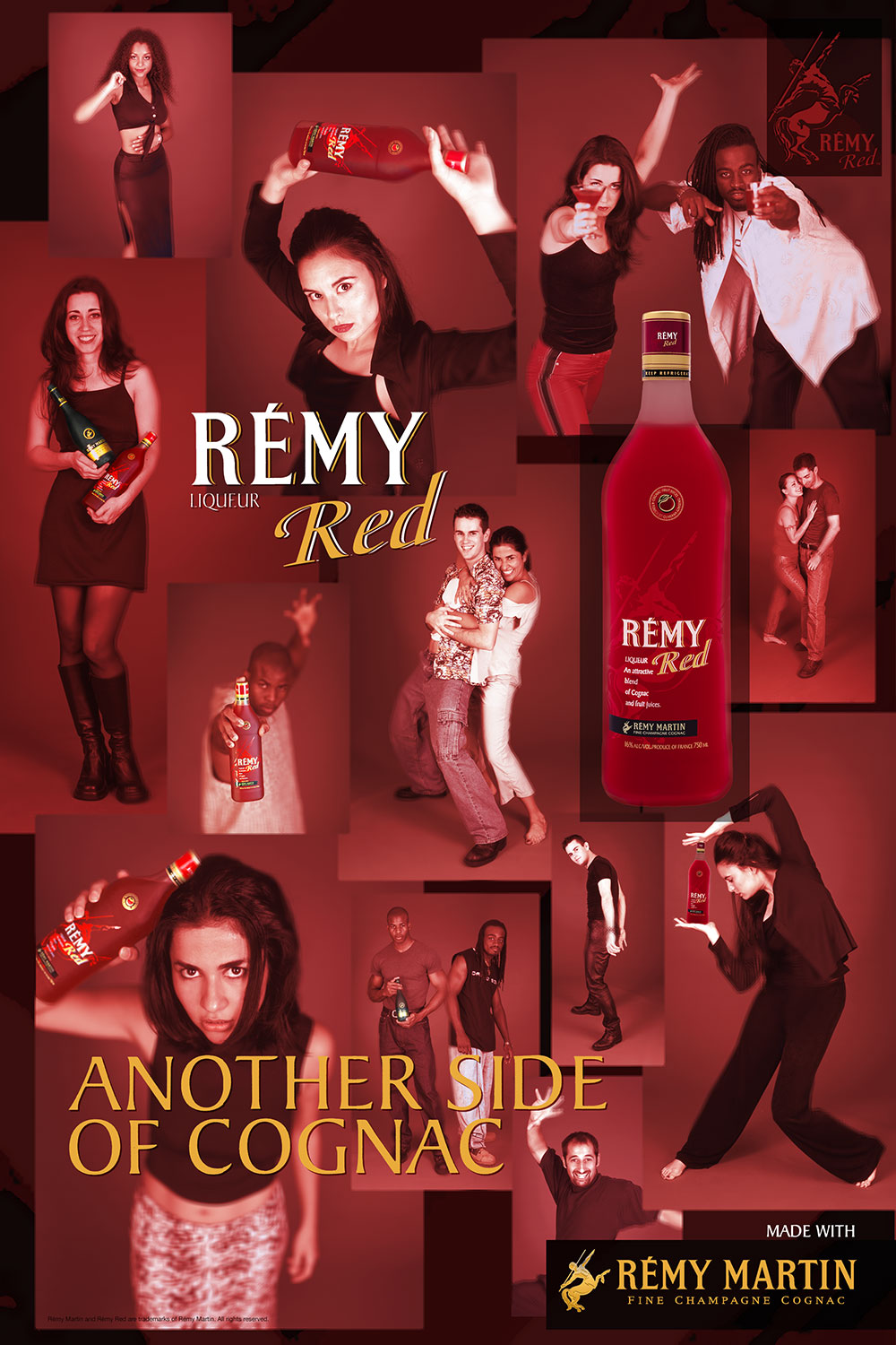Remy Red Bottle with Print Ad