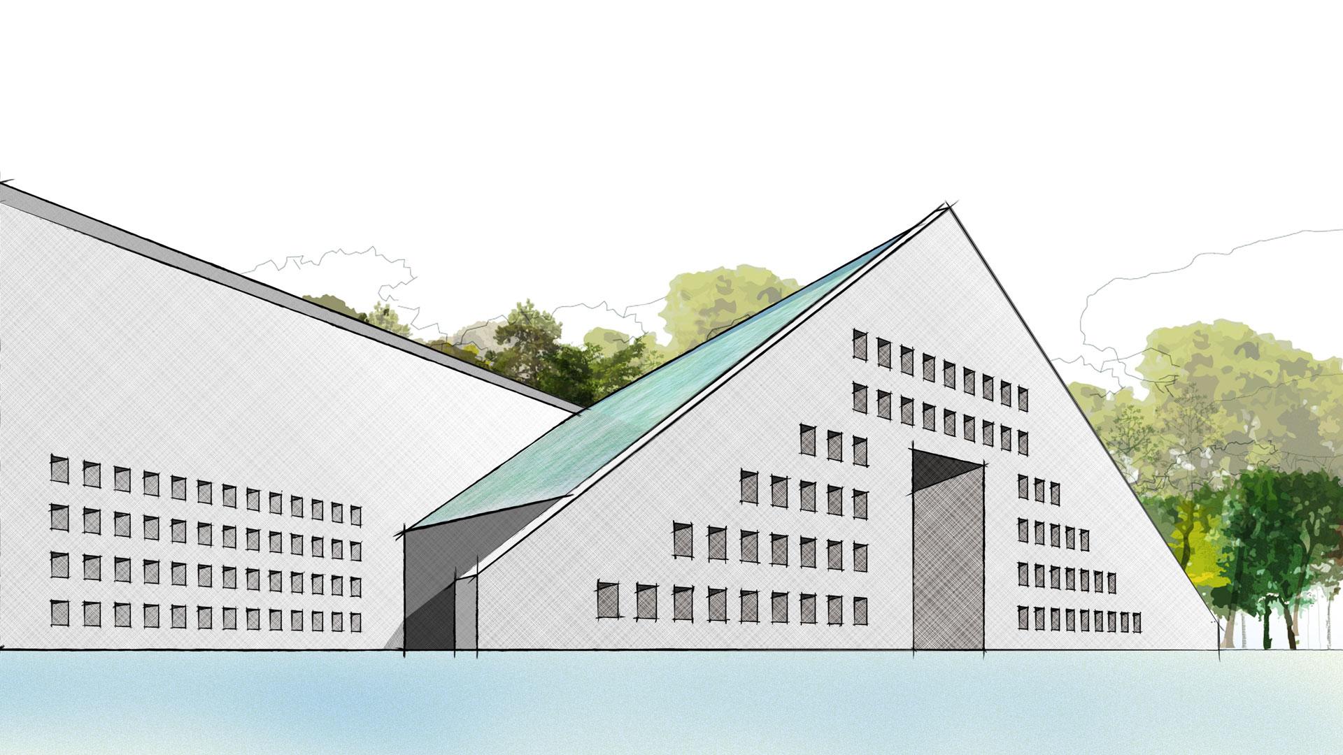 Unicopy Building Illustration
